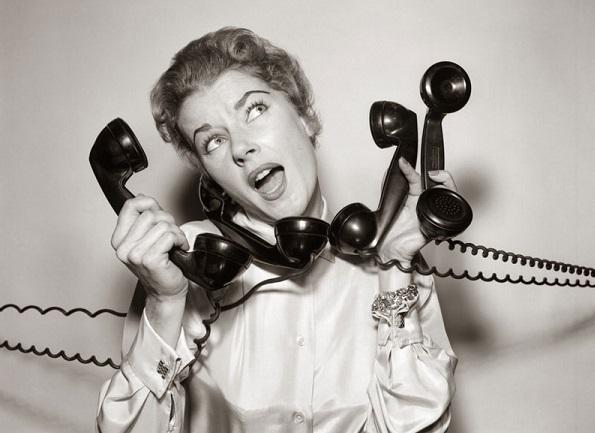 woman phones