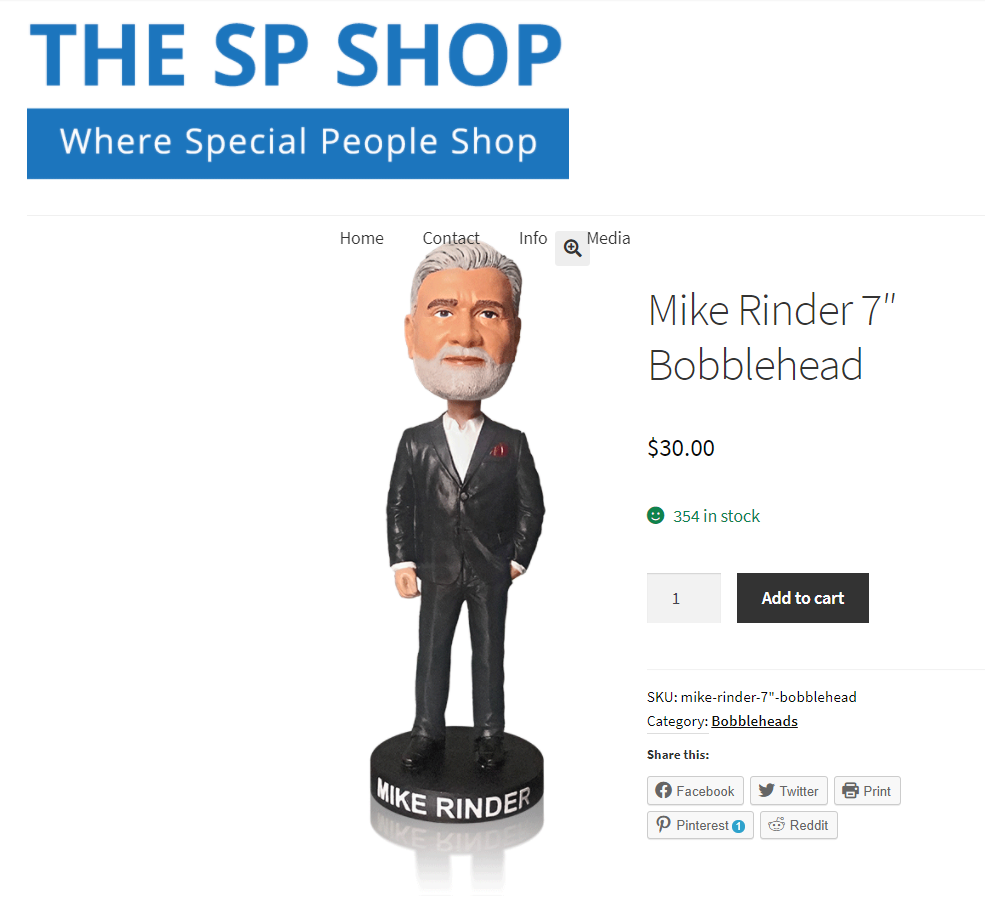 Mike Rinder bobblehead